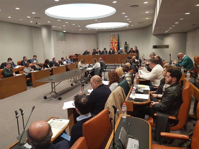 Ple de la Diputació de Barcelona de gener