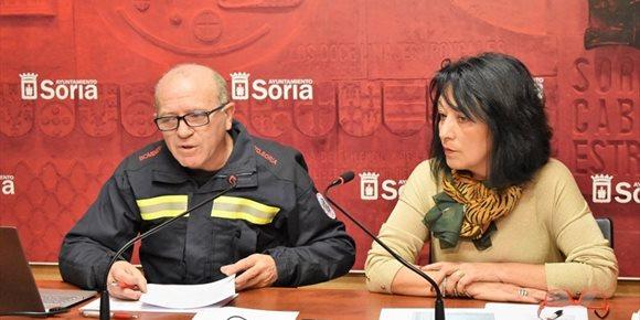 1. El Servicio de Extinción de Incendios de Soria cierra 2018 con 834 actuaciones, un doce por ciento más