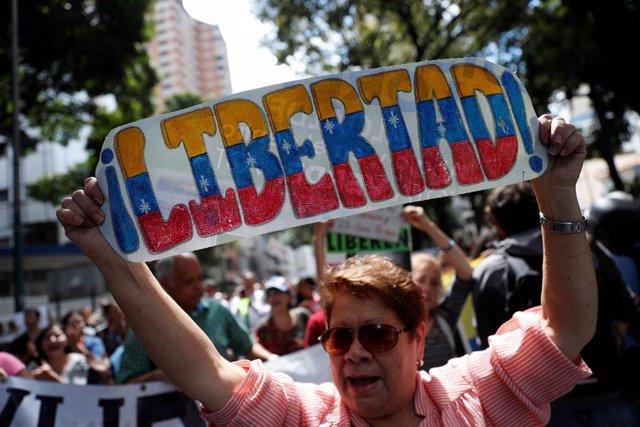 Manifestación contra el Gobierno de Nicolás Maduro