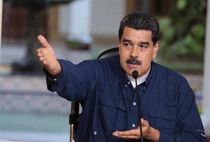 Concentración en Barcelona en apoyo al Gobierno de Maduro en Venezuela
