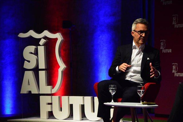 El precandidato a la presidencia del FC Barcelona Víctor Font