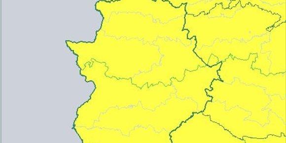 2. Extremadura permanece en aviso amarillo este viernes por fuertes vientos y por nevadas en el norte