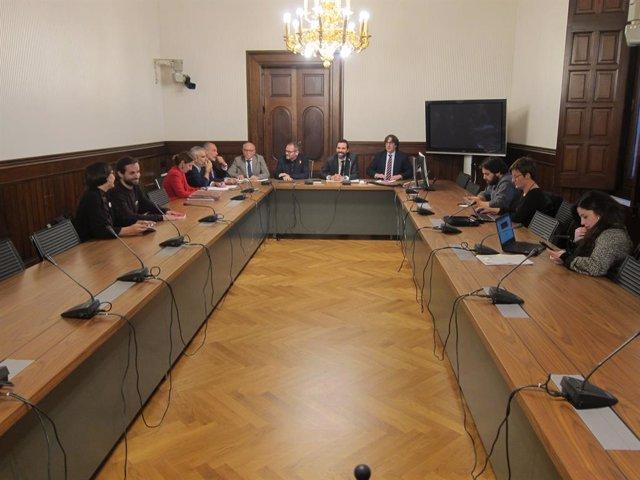 Imagen de la primera reunión de la ponencia hace dos semanas