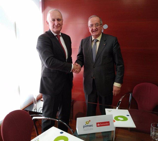 El president de Pimec, Josep González, i el director territorial institucional d