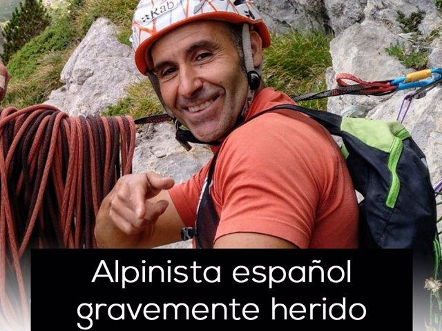 Jesús Gutiérrez, alpinista accidentado en Argentina cuando participaba en un res