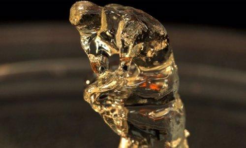 Modelo del pensador de Rodin hecho con el 'replicador'