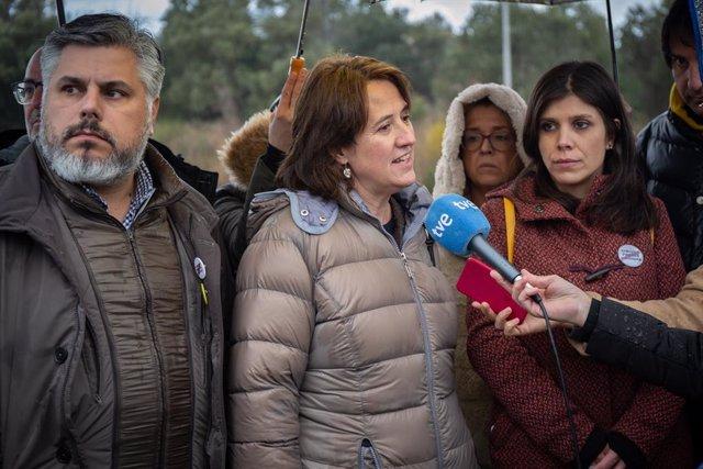 Albert Batet (JxCat), Elisenda Paluzie (ANC) i Marta Vilalta (ERC)