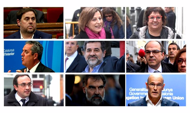 Montaje fotográfico de los políticos presos independentistas