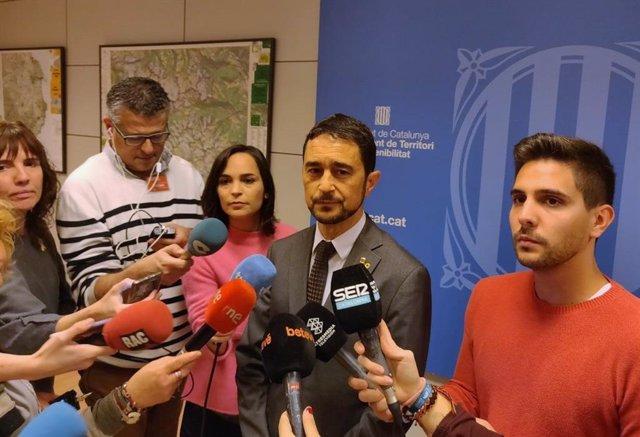 El conseller de Territori de la Generalitat, Damià Calvet