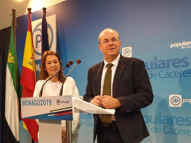 José Antonio Monago, presidente del PP en Extremadura