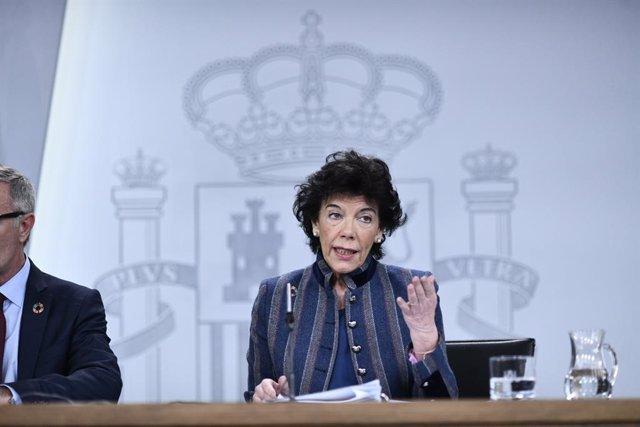 Roda de premsa després del Consell de Ministres
