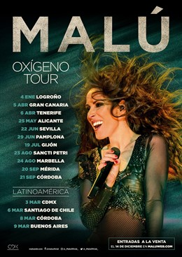 Cartel del 'Oxígeno Tour' de Malú