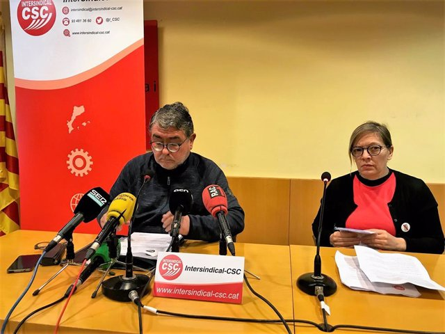 Carles Sastre i Ester Rocabayera (Intersindical-CSC)