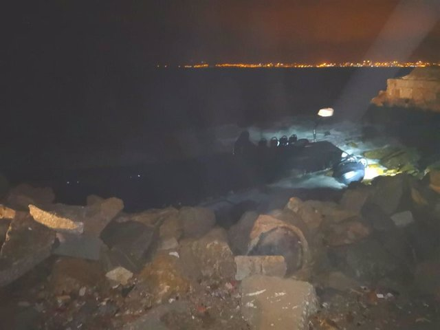 Narcolancha rescatada en la Bahía de Algeciras