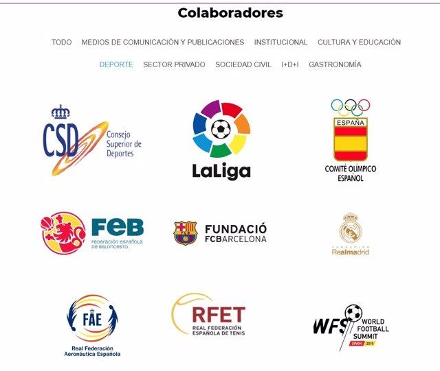 Entitats esportives que col·laboren amb Espanya Global
