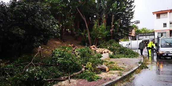 10. Bomberos de Almuñecar atienden media docena de incidencias por el temporal de viento y lluvia en la costa de Granada