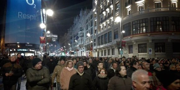 10. Taxistas vuelven a cortar el tráfico en Gran Vía y parte del Paseo del Prado