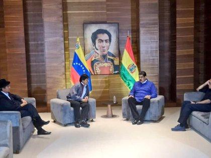 """Morales expresa su apoyo a Maduro ante el """"golpismo"""" de EEUU sobre Venezuela"""
