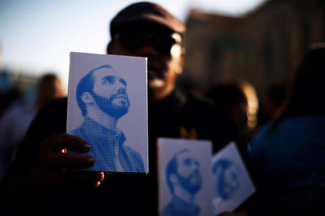 Imagen del candidato presidencial de El Salvador Nayib Bukele