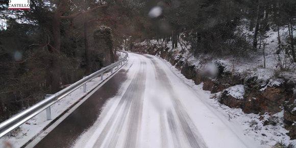 2. El temporal deja nieve en Pobla de Benifassà y rachas de 111 km/h en Fredes