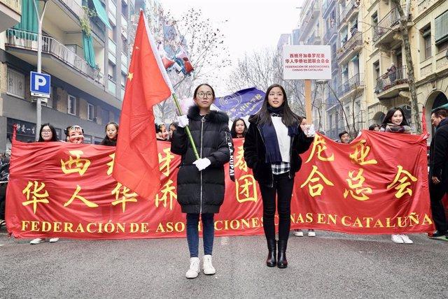 Celebració de l'Any Nou Xins a Barcelona
