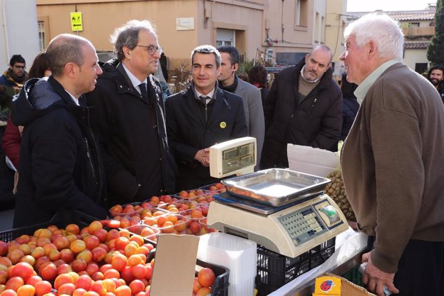 El president de la Generalitat, Quim Torra en la Fira de la Candelera