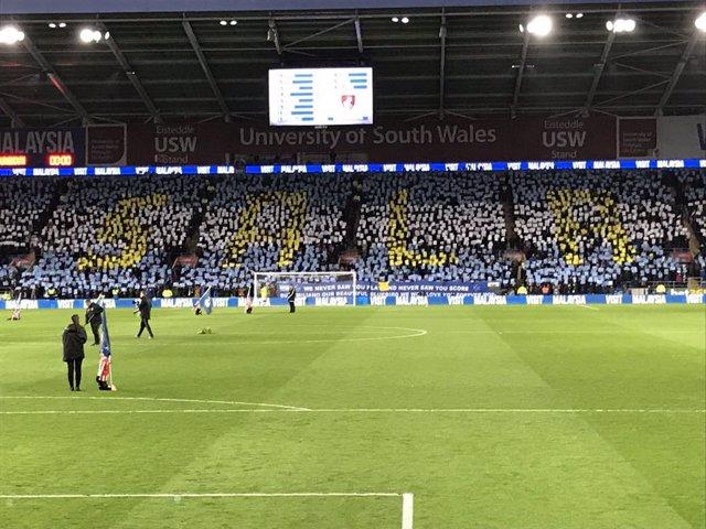 El Cardiff City homenajea a Emiliano Sala