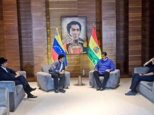Evo Morales y Nicolás Maduro se reúnen en Caracas