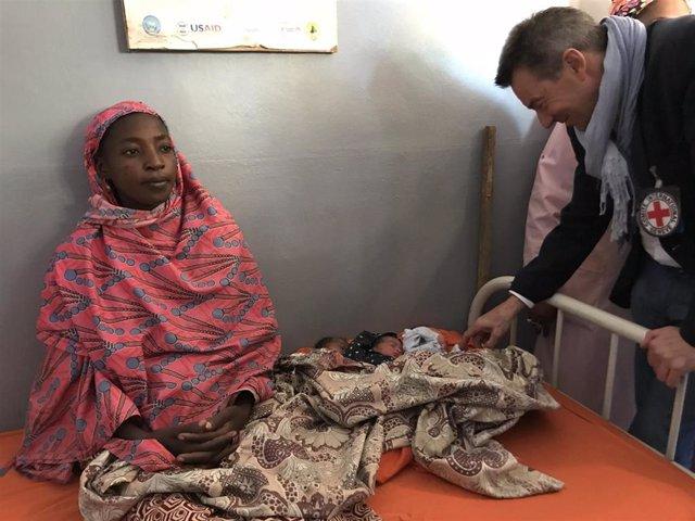 Peter Maurer, presidente del CICR durante su visita a Malí