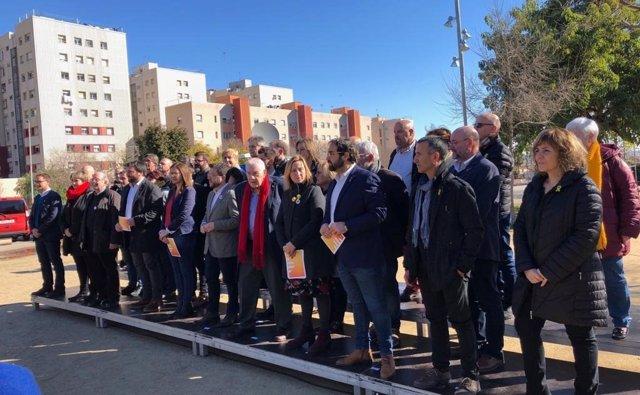 Una Trentena D'Alcaldes D'ERC I El Vicepresident De La Generalitat, P.Aragon