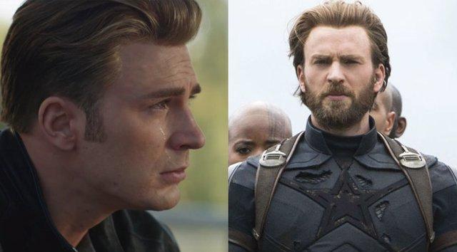 Capitán América en Endgame e Infinity War
