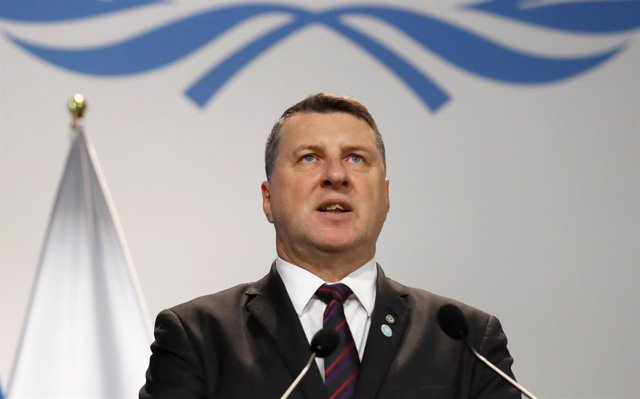 El presidente de Letonia, Raimonds Vejonis