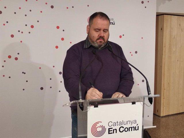 El portaveu de CatComú, Joan Mena