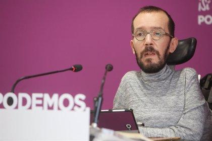 """Podemos cree que Sánchez """"se equivoca"""" al reconocer a Guaidó como presidente venezolano y aboga por la mediación"""