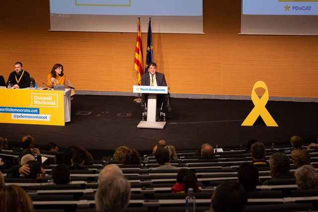 Reunió del Consell Nacional del PDeCAT a Barcelona (Catalunya)