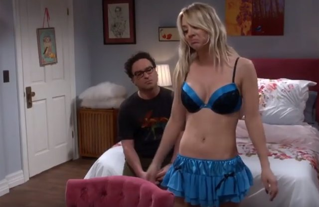 Penny y Leonard en The Big Bang Theory
