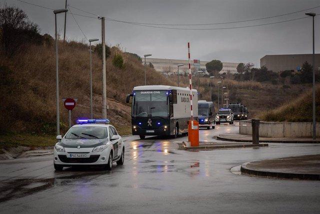 Traslado a Madrid de los presos independentistas