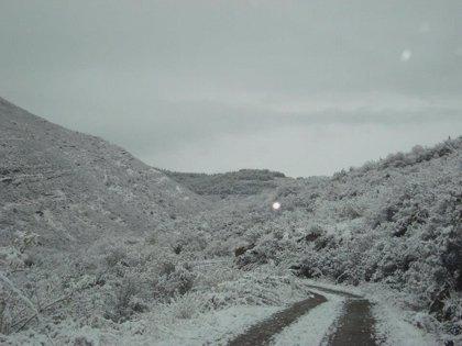 Un puerto cerrado para circular en La Rioja por la presencia de nieve en la calzada