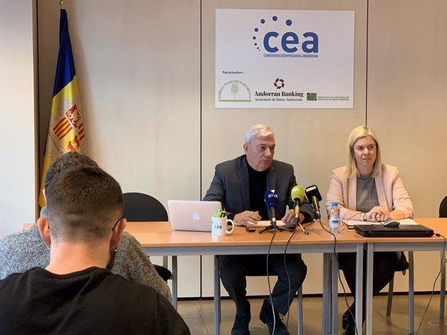 Roda de premsa de la Confederació Empresarial Andorrana (CEA)