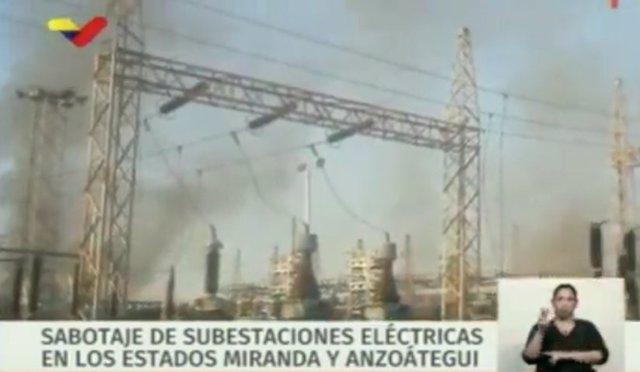 Sabotaje en una subestación eléctrica de Venezuela