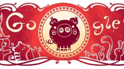 Google celebra el Año Nuevo Chino con un divertido 'doodle'