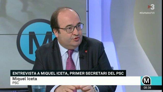 Miquel Iceta (PSC) a TV3