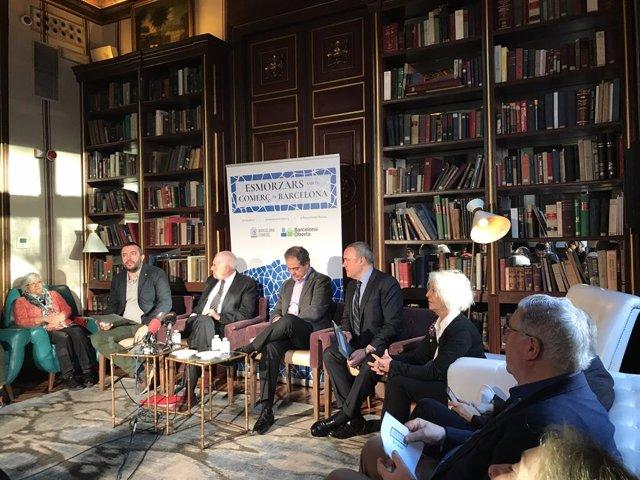 Ernest Maragall es reuneix amb comerciants de Barcelona