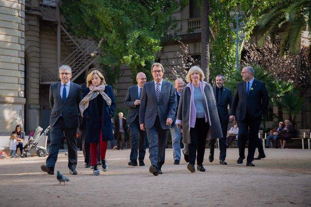 Artur Mas i altres membres de l'anterior Govern es pronuncien sobre la sentència