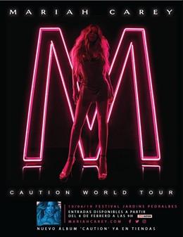 Cartell del concert de Mariah Carey en el Festival de Pedralbes