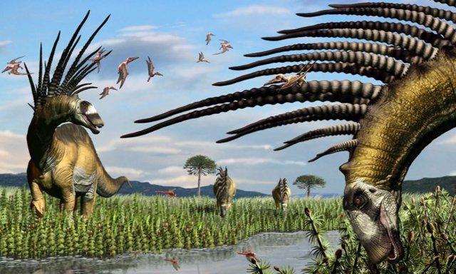 Recreación de Bajadasaurus