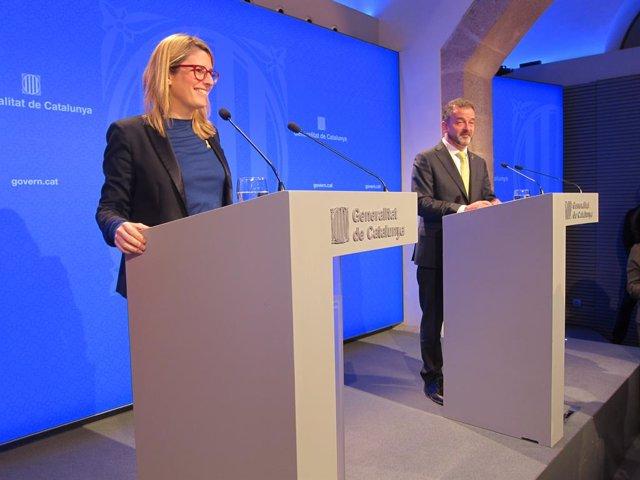 La consellera de Presidència, Elsa Artadi, i el conseller Pere Aragonès