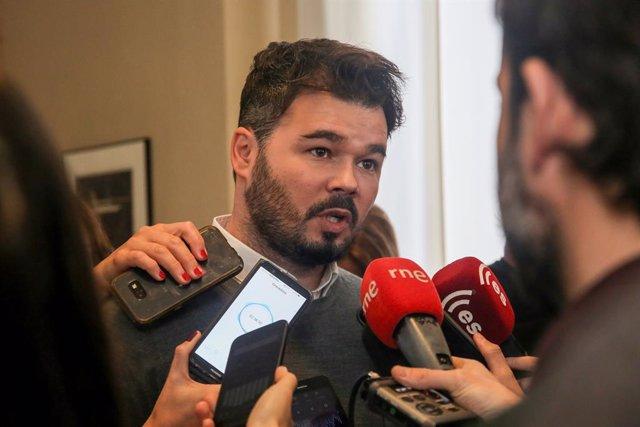 Roda de premsa per presentar el projecte de llei dels pressupostos del 2019