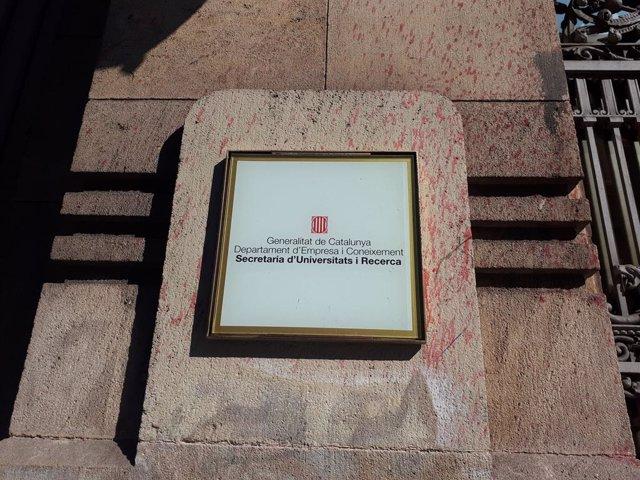 Seu de la Secretaria d'Universitats de la Generalitat