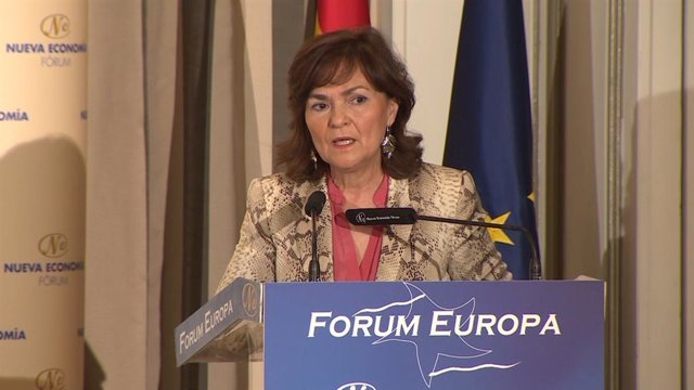 Esmorzar informatiu de Fòrum Europa amb la vicepresidenta del Govern, Carmen Cal